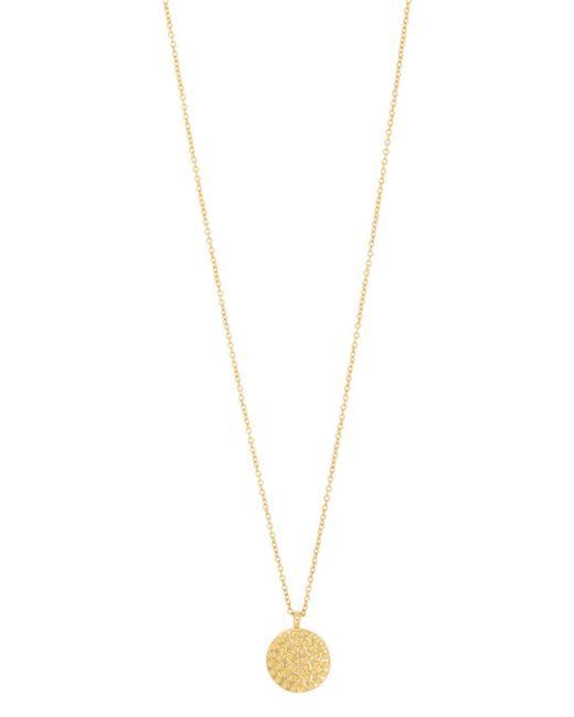 Gorjana Metallic Bali Textured Disc Pendant Necklace