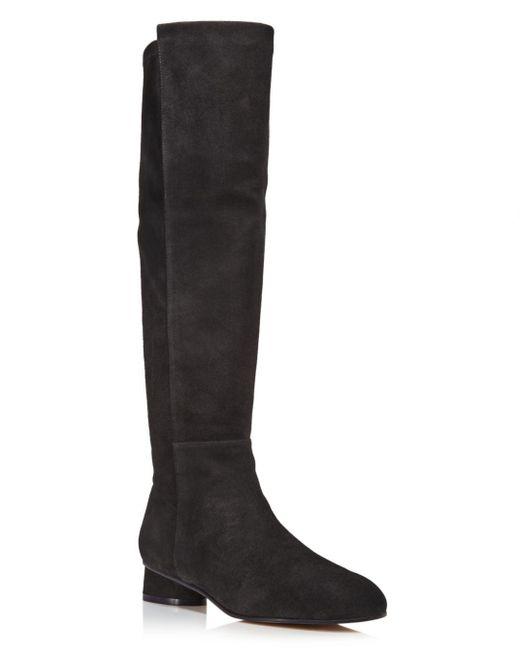 Stuart Weitzman - Black Women's Eloise 30 Almond Toe Suede Boots - Lyst