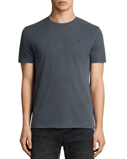 AllSaints - Black Ossage Tee for Men - Lyst