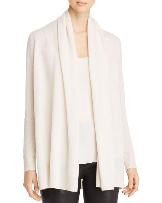 C By Bloomingdale's White Open - Front Cashmere Cardigan