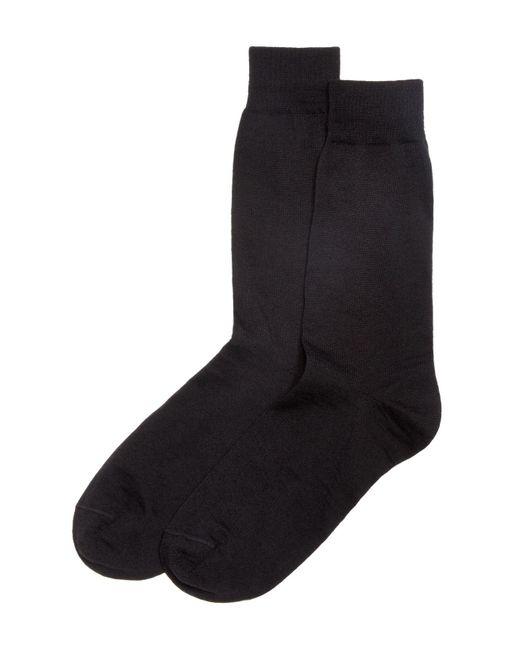 Bloomingdale's | Black Wool Blend Dress Socks for Men | Lyst