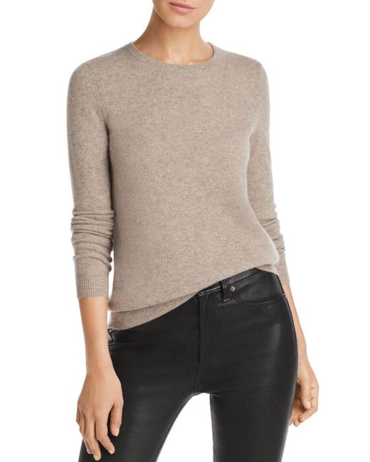 C By Bloomingdale's Multicolor Crewneck Cashmere Sweater