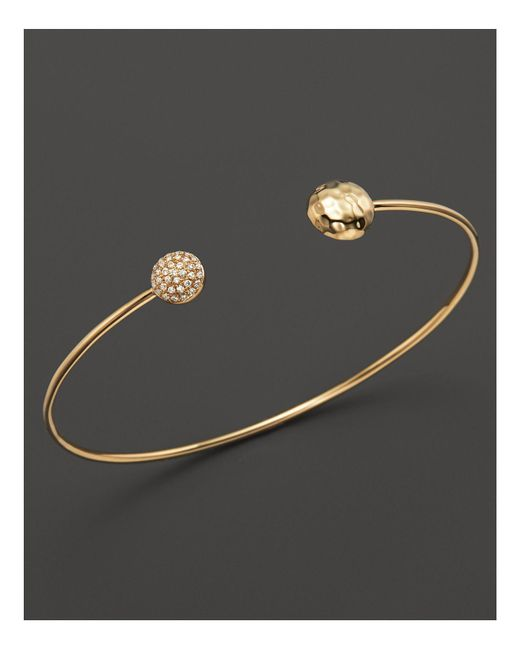 KC Designs | Metallic Diamond Double Circle Bracelet In 14k Yellow Gold | Lyst