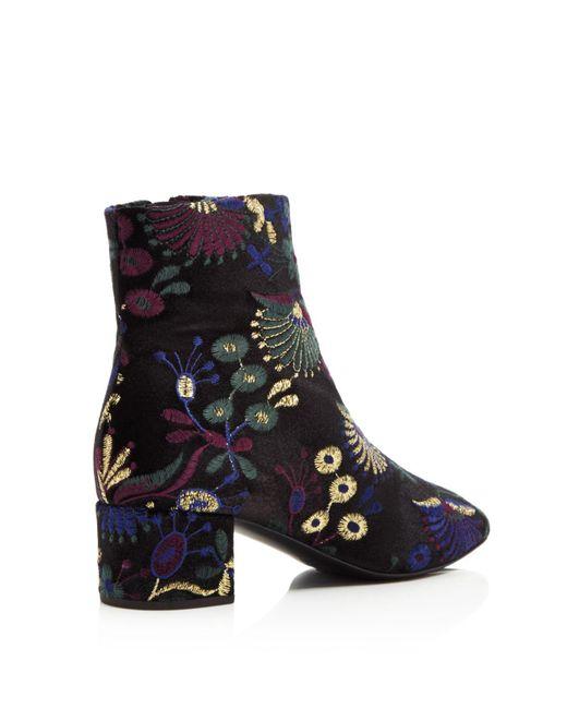 Giuseppe Zanotti Embroidered Velvet Block Heel Booties - 100% Exclusive NXxkZ1Evv