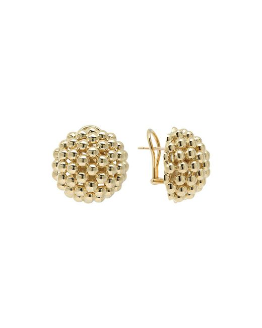 Lagos - Metallic 18k Gold Caviar Bold Button Stud Earrings - Lyst