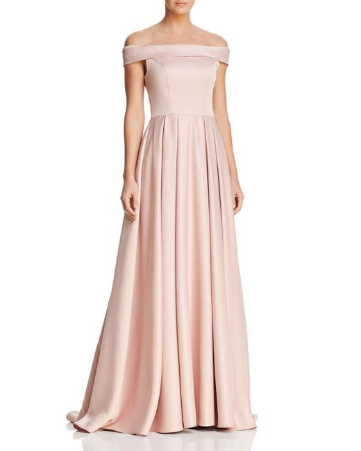 Mac Duggal - Pink Off-the-shoulder Gown - Lyst