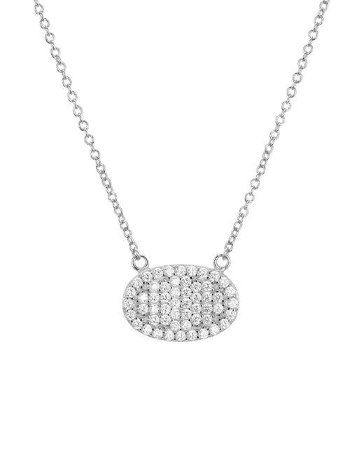Aqua - Metallic Sterling Silver Ellipse Pendant Necklace - Lyst