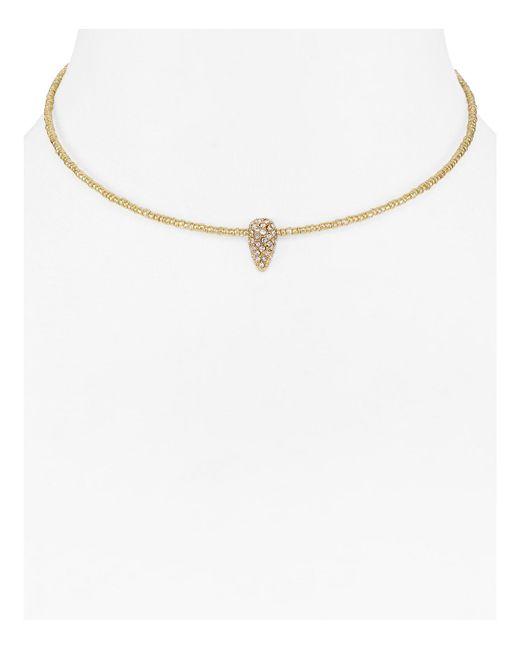 Aqua | Metallic Lindsey Coil Collar Necklace | Lyst