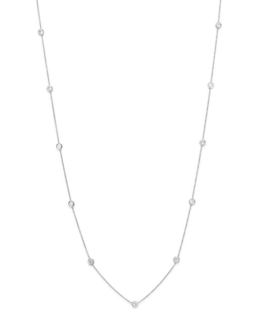 Bloomingdale's - Diamond Station Necklace In 14k White Gold - Lyst