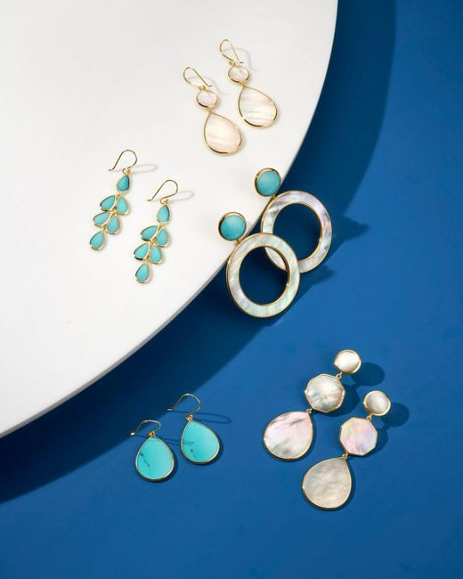 Ippolita Metallic 18k Gold Polished Rock Candy Crazy 8's Earrings In Mother - Of - Pearl