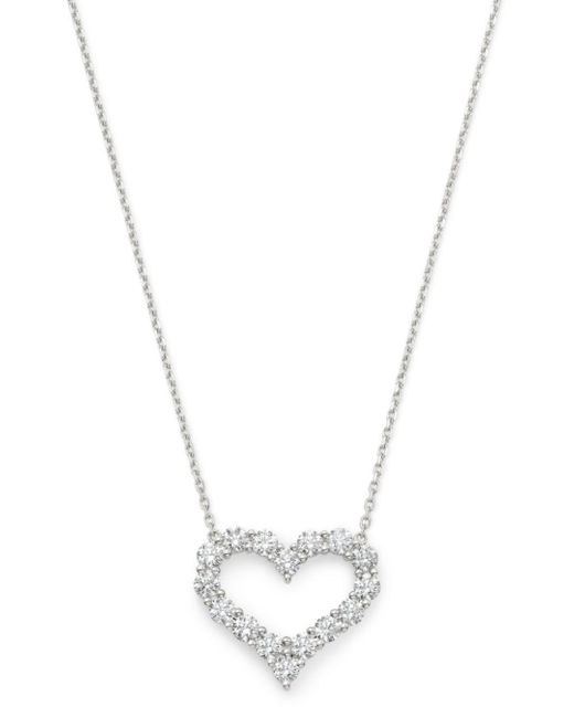 Bloomingdale's Diamond Heart Pendant Necklace In 14k White Gold