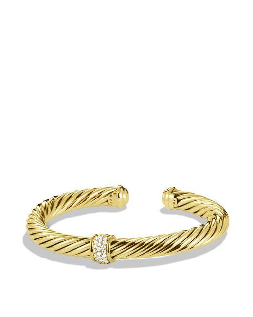 David Yurman | Yellow Cable Classics Bracelet In Gold With Diamonds | Lyst
