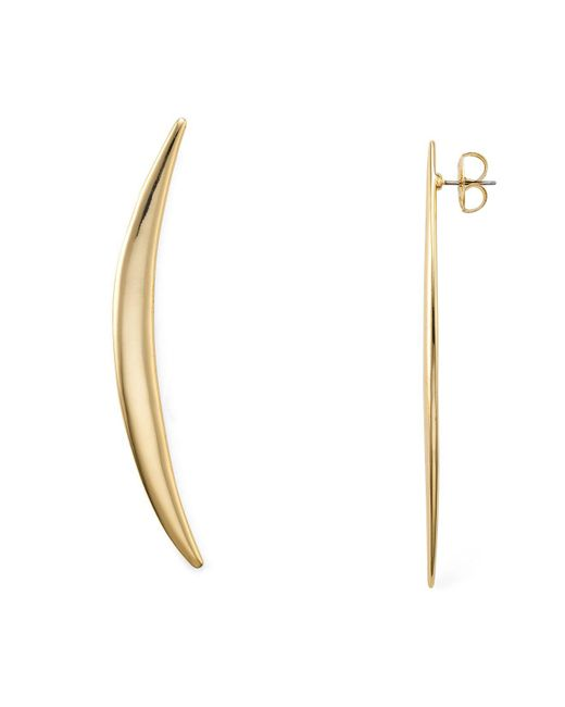 Robert Lee Morris | Metallic Curved Crescent Drop Earrings | Lyst