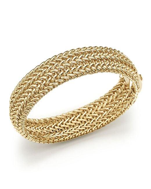 Bloomingdale's - Metallic 14k Yellow Gold 3-row Link Bangle - Lyst