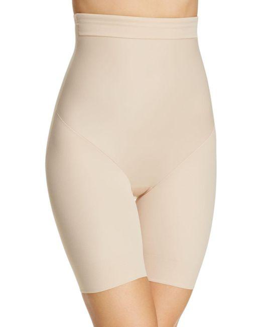 Tc Fine Intimates - Natural Firm Control Hi-waist Thigh Slimmer - Lyst