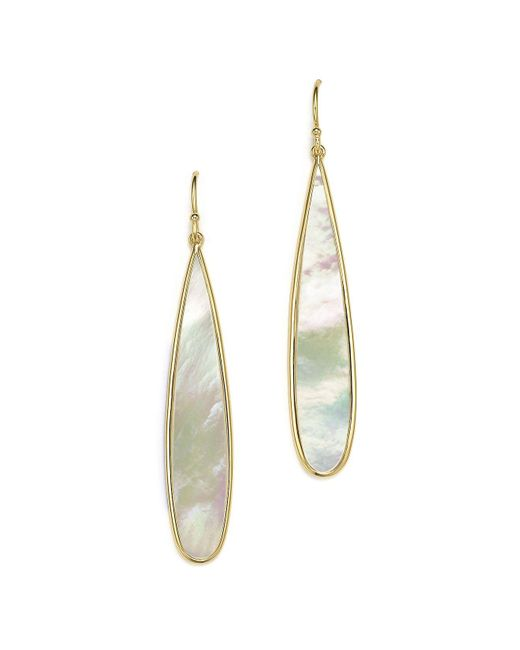 Ippolita - Gray 18k Yellow Gold Rock Candy® Drop Earrings With Mother-of-pearl - Lyst