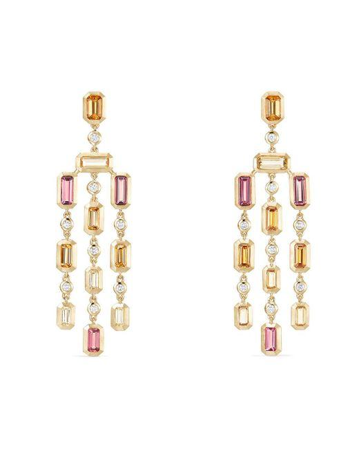 David Yurman Metallic Novella Earrings In Spessartite Garnet