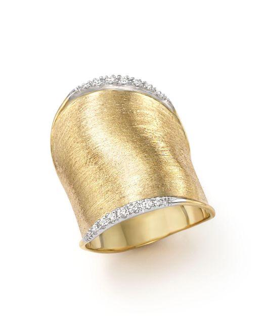 Marco Bicego - Metallic Diamond Lunaria Large Ring In 18k Yellow Gold - Lyst