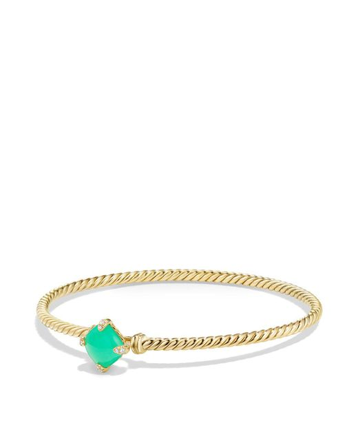 David Yurman - Metallic Châtelaine Bracelet With Chrysoprase And Diamonds In 18k Gold - Lyst