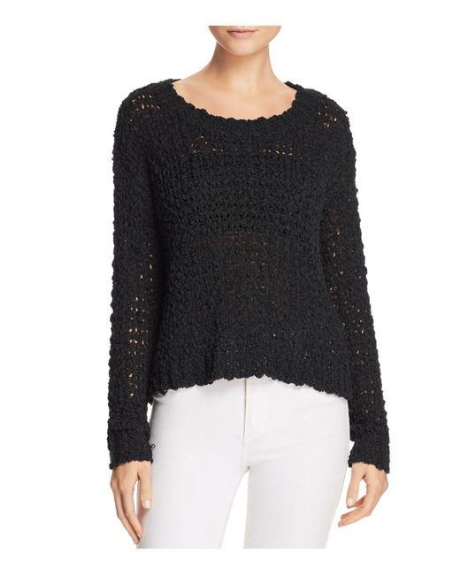 Band Of Gypsies | Black Pop Yarn Sweater | Lyst