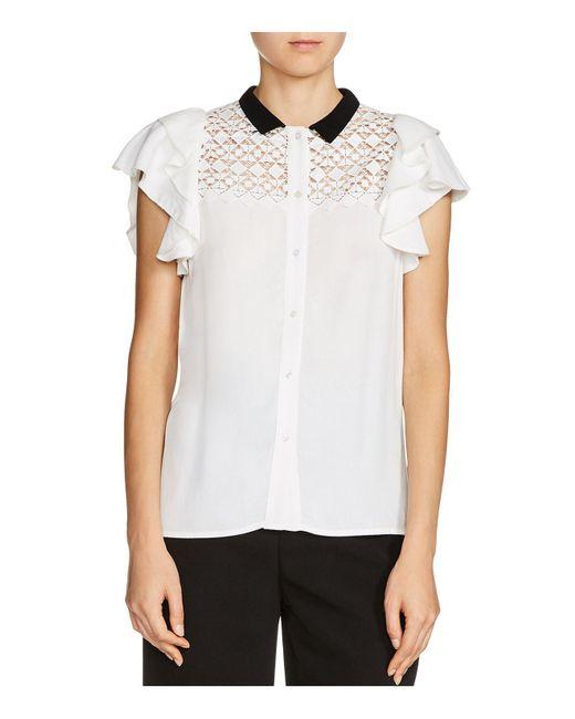 Maje | White Lanie Embellished Shirt | Lyst