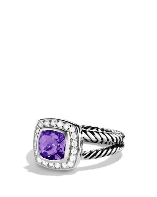 David Yurman - Metallic Petite Albion Ring With Amethyst & Diamonds - Lyst
