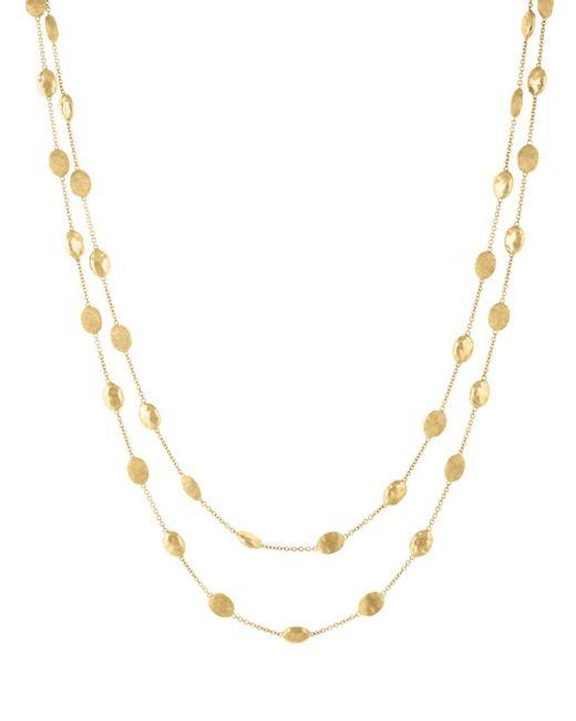 Marco Bicego Metallic 18k Yellow Gold Siviglia Necklace