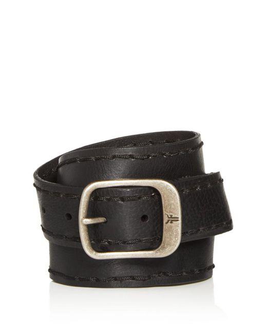 Frye Black Men's Stitched - Edge Leather Belt for men