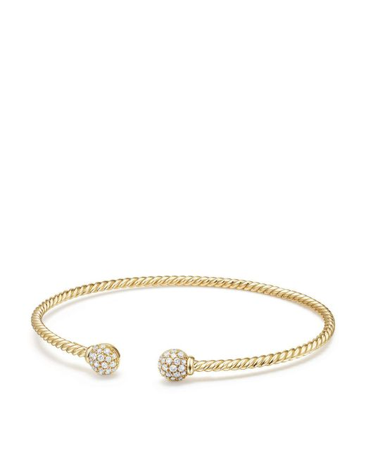 David Yurman - Metallic Solari Bead Bracelet With Diamonds In 18k Gold - Lyst