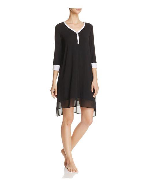 DKNY   Black Short Sleepshirt   Lyst