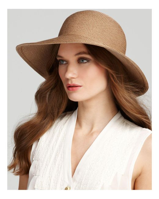 Eric Javits | Natural Packable Squishee Iv Short Brim Sun Hat | Lyst