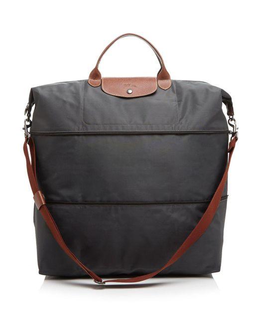 Longchamp | Metallic Le Pliage Expandable Travel Duffel Weekender | Lyst