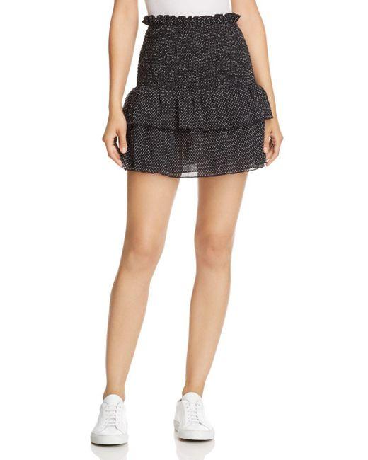 The East Order - Black Smocked Polka Dot Mini Skirt - Lyst