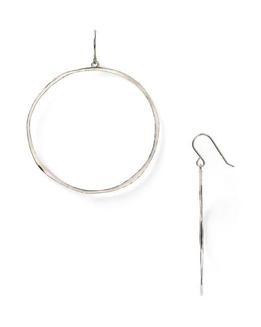 Gorjana | White G Ring Circle Drop Earrings | Lyst