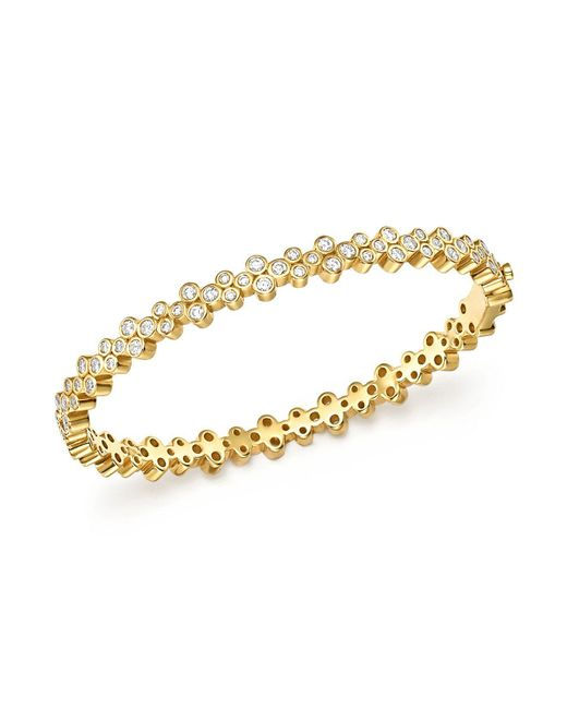 Temple St. Clair | Metallic 18k Yellow Gold Eternity Diamond Trio Bangle Bracelet | Lyst