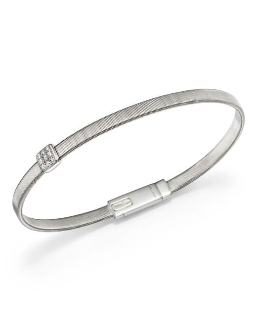 Marco Bicego - 18k White Gold Masai Single Station Diamond Bracelet - Lyst