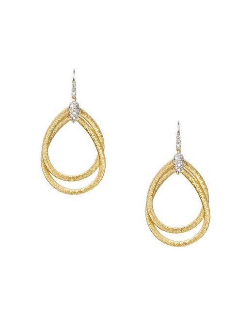 Marco Bicego - Metallic 18k Yellow Gold Cairo Drop Earrings With Diamonds - Lyst