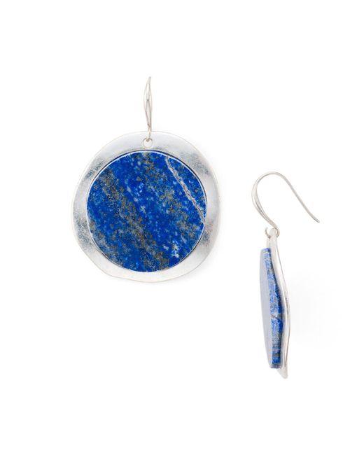 Robert Lee Morris | Blue Circle Statement Earrings | Lyst