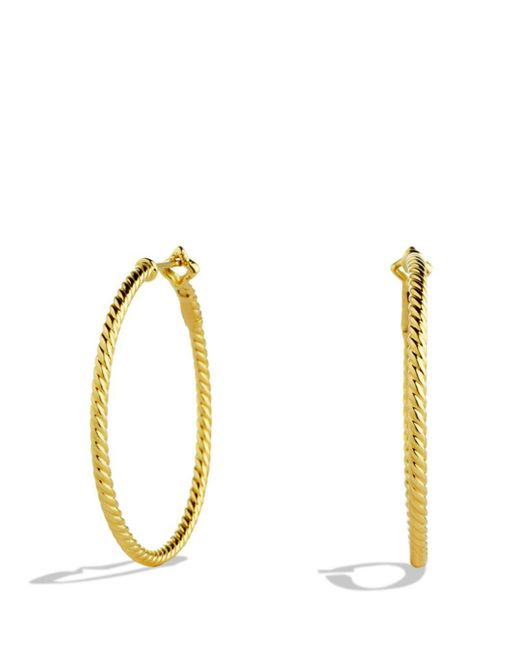 David Yurman - Metallic Cable Classics Hoop Earrings In Gold - Lyst