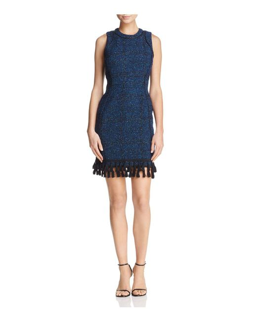 Adelyn Rae - Blue Olivia Bouclé Sheath Dress - Lyst