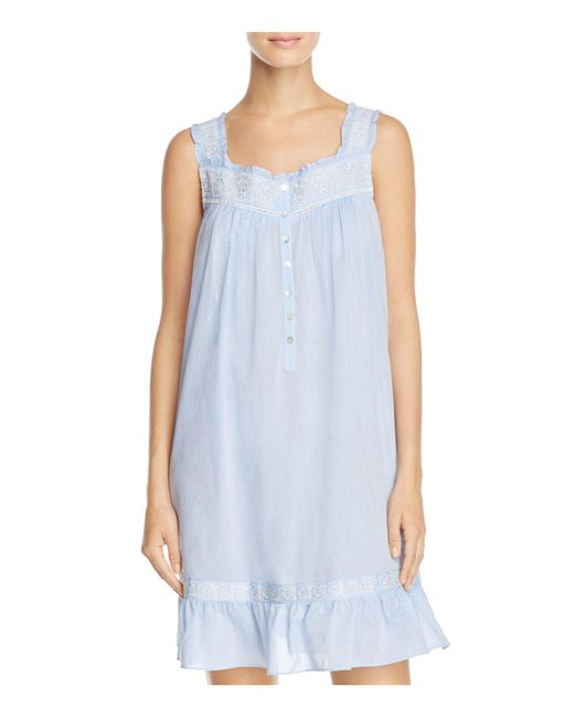 Eileen West | Blue Short Sleeveless Nightgown | Lyst