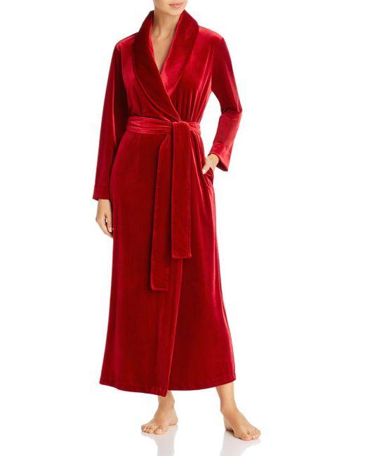 Natori Red Natalie Velvet Robe