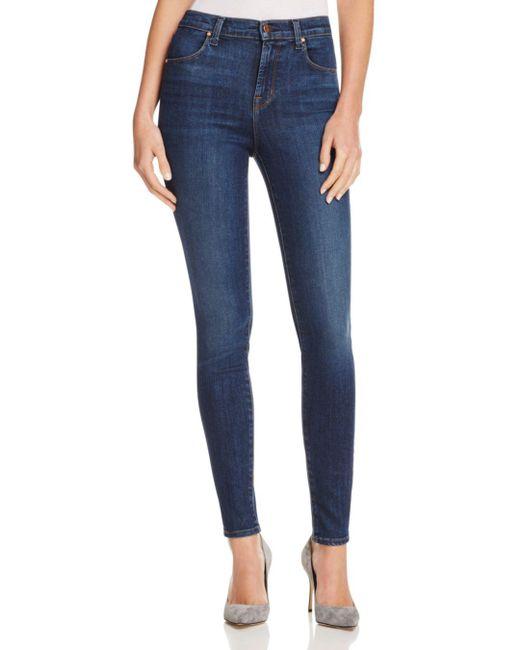 J Brand Blue Maria High - Rise Skinny Jeans In Fleeting