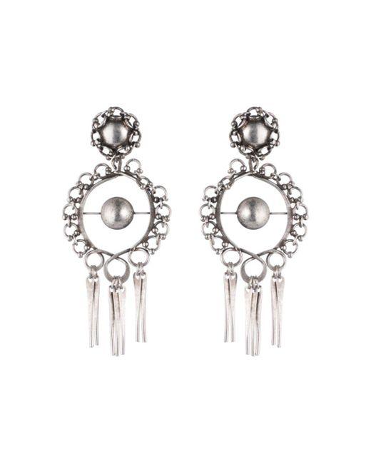 DANNIJO - Metallic Ash Statement Earrings - Lyst