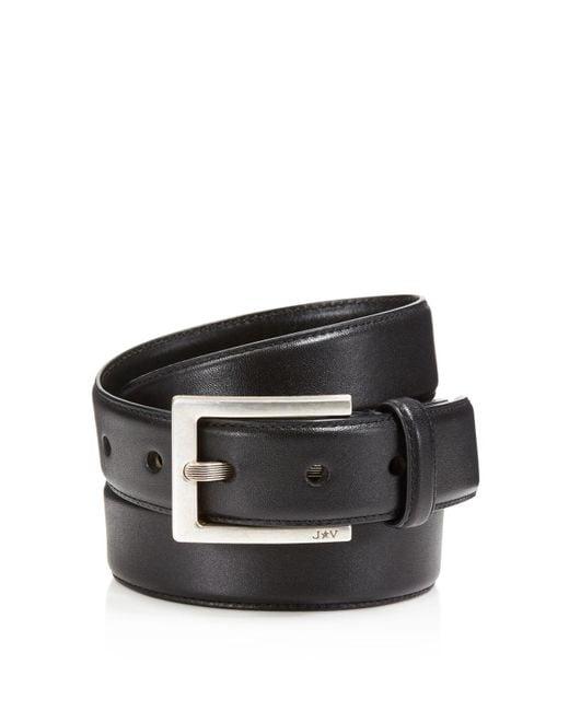 John Varvatos | Black Leather Dress Belt for Men | Lyst
