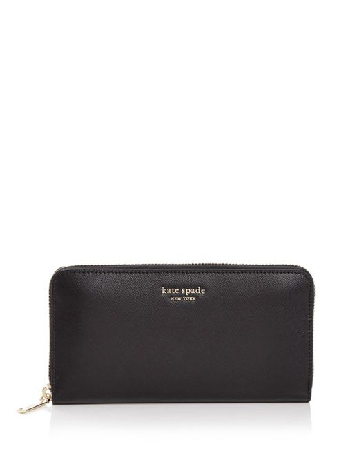 Kate Spade Black Spencer Zip-around Continental Wallet