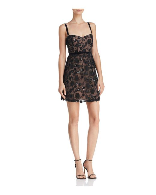 For Love & Lemons - Black Beatrice Embellished Mini Dress - Lyst