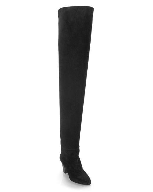 Saint Laurent Brown Women's Kim Over - The - Knee Boots