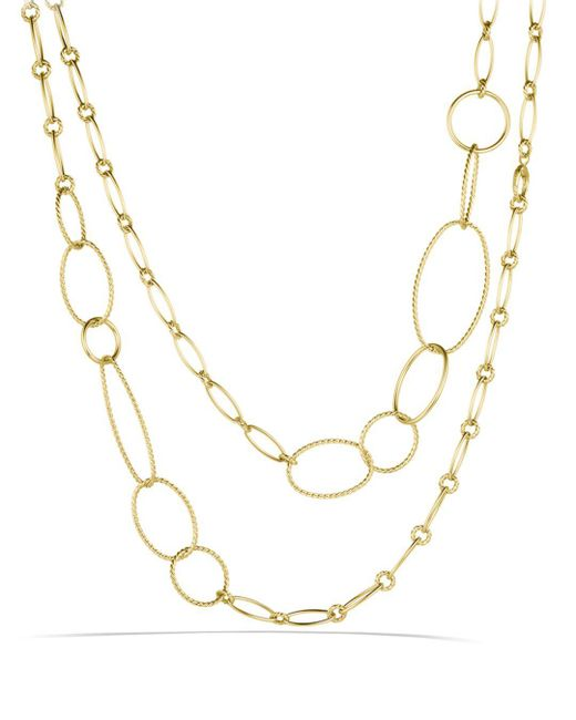 David Yurman - Yellow Mobile Link Necklace In Gold - Lyst