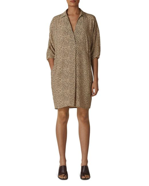Whistles Natural Lola Cocoon Dress